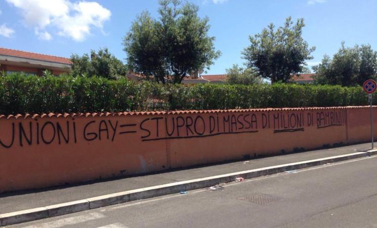 Unioni civili: Concia, scritta omofoba a Infernetto a Roma. Chiedo a Ama di cancellarla immediatamente